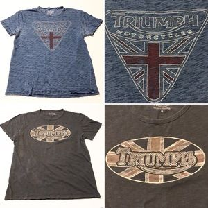 Triumph Motorcycle T-shirt Lot, Medium